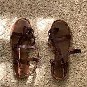 Gladiator flats brown sandals